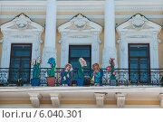 Купить «Инсталляция на здание Пермского краевого музея», фото № 6040301, снято 14 мая 2012 г. (c) Elena Monakhova / Фотобанк Лори