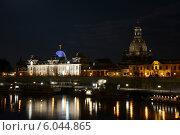 Ночной Дрезден. Редакционное фото, фотограф Артем Пикулин / Фотобанк Лори