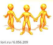 Купить «Three men. Teamwork», фото № 6056209, снято 8 декабря 2019 г. (c) Maksym Yemelyanov / Фотобанк Лори