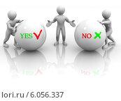 Купить «Choise YES or NO», фото № 6056337, снято 25 июня 2019 г. (c) Maksym Yemelyanov / Фотобанк Лори
