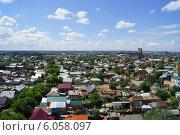 Вид на город с высоты частный сектор (2014 год). Стоковое фото, фотограф Юлия Лифарева / Фотобанк Лори