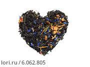 Чайное сердце на белом фоне. Стоковое фото, фотограф Федорец Артем / Фотобанк Лори