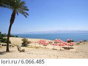 Пляж Мертвого моря (2013 год). Стоковое фото, фотограф Илья Хаскин / Фотобанк Лори