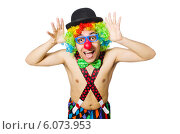 Купить «Funny clown isolated on the white background», фото № 6073953, снято 21 апреля 2014 г. (c) Elnur / Фотобанк Лори