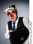 Купить «Clown businessman in funny concept», фото № 6075453, снято 24 марта 2014 г. (c) Elnur / Фотобанк Лори