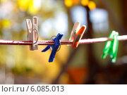 Бельевые прищепки. Стоковое фото, фотограф Марина Зырянова / Фотобанк Лори