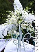 Купить «Свадебная цветочная композиция», фото № 6092613, снято 5 июля 2014 г. (c) Юлия Бурдакова / Фотобанк Лори