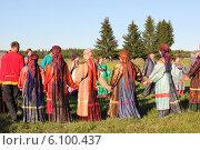Купить «Русские народные гулянья в Иванов день», фото № 6100437, снято 7 июля 2012 г. (c) Светлана Чуркина / Фотобанк Лори