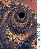 Купить «Текстурный фрактальный фон со спиралью», иллюстрация № 6101565 (c) Astronira / Фотобанк Лори
