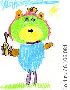 Мишка с бабочкой. Стоковая иллюстрация, иллюстратор Александр Ледовской / Фотобанк Лори