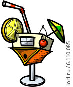 Коктейльный бокал в виде перевёрнутого дома. Стоковое фото, фотограф Константин Костенко / Фотобанк Лори