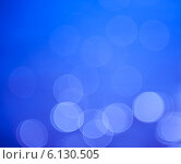 Яркий синий абстрактный фон с эффектом боке. Стоковое фото, фотограф E. O. / Фотобанк Лори