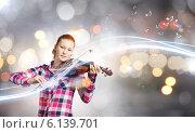 Купить «Girl violinist», фото № 6139701, снято 17 ноября 2019 г. (c) Sergey Nivens / Фотобанк Лори