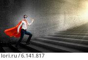 Купить «Walking superhero», фото № 6141817, снято 14 июня 2019 г. (c) Sergey Nivens / Фотобанк Лори