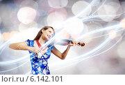 Купить «Woman violinist», фото № 6142101, снято 17 ноября 2019 г. (c) Sergey Nivens / Фотобанк Лори