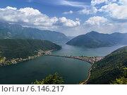 Купить «Озеро Лугано, Швейцария», фото № 6146217, снято 31 мая 2014 г. (c) Boris Breytman / Фотобанк Лори