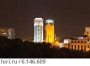 Купить «Ночной вид на небоскребы Еревана. Армения», фото № 6146609, снято 5 июля 2013 г. (c) Евгений Ткачёв / Фотобанк Лори