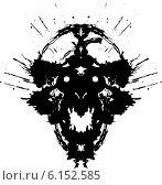 Страшный Демон - тест Роршаха. Стоковая иллюстрация, иллюстратор Константин Костенко / Фотобанк Лори