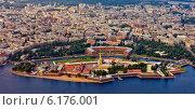 Санкт-Петербург с высоты птичьего полёта. Петропавловская крепость (2014 год). Стоковое фото, фотограф Литвяк Игорь / Фотобанк Лори