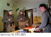 Купить «Polish border guard officers in the barracks before night patrol, Poland», фото № 6191061, снято 15 декабря 1996 г. (c) Caro Photoagency / Фотобанк Лори