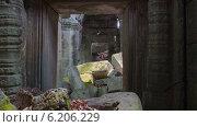 Купить «Храм Преа-Кан, Камбоджа, таймлапс», видеоролик № 6206229, снято 16 июля 2014 г. (c) Кирилл Трифонов / Фотобанк Лори