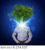 Купить «Дерево на месте головы мужчины», иллюстрация № 6214537 (c) Кирилл Черезов / Фотобанк Лори