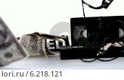 Купить «Dollars falling beside film video tapes and closed sign», видеоролик № 6218121, снято 17 января 2019 г. (c) Wavebreak Media / Фотобанк Лори