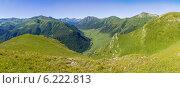Долина горной реки Маруха, Западный Кавказ. Стоковое фото, фотограф Ерохин Валентин / Фотобанк Лори