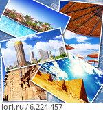 Купить «Коллаж достопримечательностей Египта, Африка», фото № 6224457, снято 23 июля 2019 г. (c) Vitas / Фотобанк Лори