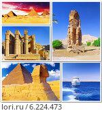Купить «Коллаж - красоты Египта. Африка», фото № 6224473, снято 23 июля 2019 г. (c) Vitas / Фотобанк Лори