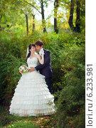 Купить «Жених и невеста», фото № 6233981, снято 8 октября 2011 г. (c) Владимир Сурков / Фотобанк Лори