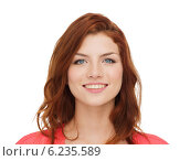 Купить «smiling teenage girl in casual clothes», фото № 6235589, снято 4 мая 2014 г. (c) Syda Productions / Фотобанк Лори