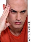 Купить «Close-up shot of an angry man», фото № 6236245, снято 24 января 2011 г. (c) Phovoir Images / Фотобанк Лори