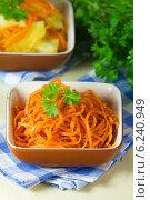 Морковь по корейски. Стоковое фото, фотограф Александр Курлович / Фотобанк Лори