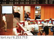 Купить «Floor trading on the Frankfurt Stock Exchange», фото № 6253713, снято 17 мая 2000 г. (c) Caro Photoagency / Фотобанк Лори