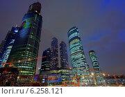 Вид на Москва-Сити со стороны Третьего транспортного кольца. Редакционное фото, фотограф Евгений Малахов / Фотобанк Лори