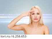 Купить «beautiful woman touching her forehead», фото № 6258653, снято 15 апреля 2014 г. (c) Syda Productions / Фотобанк Лори