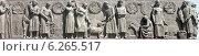 """Купить «Рельеф на пьедестале памятника """"Рабочий и колхозница"""" В. Мухиной. Москва. ВДНХ», эксклюзивное фото № 6265517, снято 31 мая 2014 г. (c) Михаил Карташов / Фотобанк Лори"""
