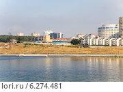 Вид на город Тольятти со стороны Волги (2014 год). Редакционное фото, фотограф Дудакова / Фотобанк Лори