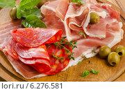 Slices of cured ham. Стоковое фото, фотограф Tatjana Baibakova / Фотобанк Лори