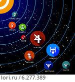 Купить «Планеты солнечной системы», иллюстрация № 6277389 (c) Павлов Максим / Фотобанк Лори