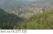 Купить «Деревня в горах Китая, таймлапс», видеоролик № 6277725, снято 30 июля 2014 г. (c) Кирилл Трифонов / Фотобанк Лори