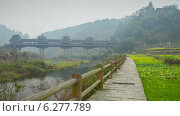 Купить «Деревня Юнцзи в Китае, таймлапс», видеоролик № 6277789, снято 1 августа 2014 г. (c) Кирилл Трифонов / Фотобанк Лори
