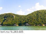 Купить «Жигулевские горы, вид с Волги», фото № 6283605, снято 5 августа 2014 г. (c) Дудакова / Фотобанк Лори