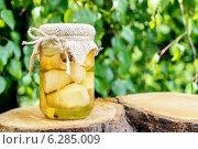 Купить «Glass jar of pickled mushrooms. Healthy food», фото № 6285009, снято 25 мая 2020 г. (c) BE&W Photo / Фотобанк Лори