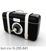 Купить «Чёрный чемоданчик с сейфовым замком», фото № 6295841, снято 25 февраля 2020 г. (c) Guru3d / Фотобанк Лори
