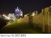 Купить «London, United Kingdom, the Tower of London at night Tower Bridge», фото № 6307893, снято 28 мая 2012 г. (c) Caro Photoagency / Фотобанк Лори