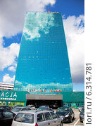 Купить «Intraco skyscraper on Stawki street in Warsaw», фото № 6314781, снято 11 июля 2020 г. (c) BE&W Photo / Фотобанк Лори