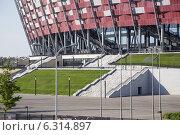 Купить «The National Stadium in Warsaw», фото № 6314897, снято 26 июня 2019 г. (c) BE&W Photo / Фотобанк Лори