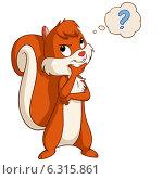 Купить «Задумчивая белочка со знаком вопроса», иллюстрация № 6315861 (c) Алексей Зайцев / Фотобанк Лори